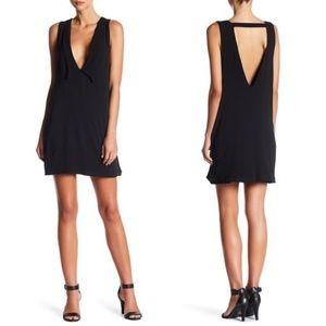 GOOD LUCK GEM Deep V Collared Mini Dress